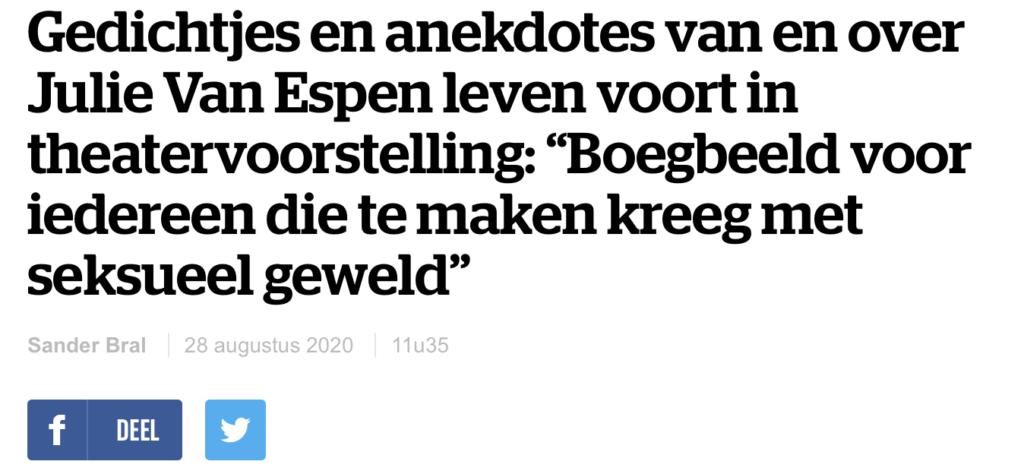 HLN - Julie Van Espen