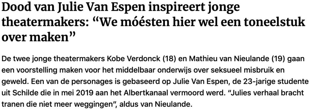 Gazet van Antwerpen - Julie Van Espen